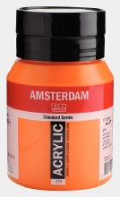 Amsterdam Acrylic 500ml Azo Orange