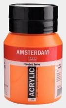 Amsterdam Acrylic 500ml Azo Orange