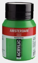 Amsterdam Acrylic 500ml Permanent Green Light