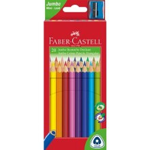 Jumbo Triangular Junior Colour Pencils, Wallet of 20