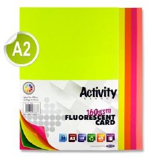 A2 Fluorescent Card Ass 20s