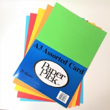 A3 Paperpick Bright Col Card 25s