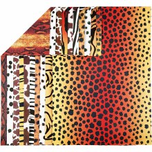 A4 Animal Print Card 10 assorted sheets
