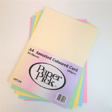 A4 Paperpick Assorted Pastel Card 50s