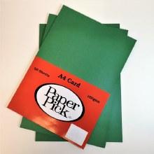 A4 Paperpick Dark Green Card 50s