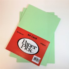 A4 Paperpick Light Green Card 50s
