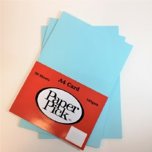 A4 Paperpick Light Blue Card 50s