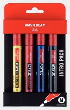 Amsterdam Acrylic Marker Intro Set of 4