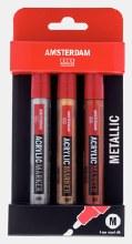 Amsterdam Acrylic Marker Metallic Set of 3