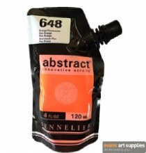 Abstract 120ml Fluorescent Orange