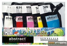 Abstract Pastel Set 5 x 120ml