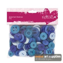Assorted Buttons Blue
