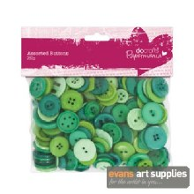 Assorted Buttons Green