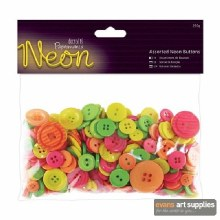 Assorted Buttons Neon