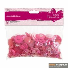 Assorted Buttons Pink