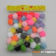 Assorted Pom Poms 40mm 50s