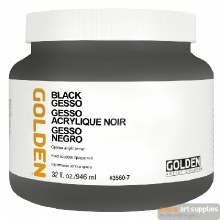 Golden Black Gesso 946ml