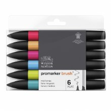 Brush Marker Set 6 Mid Tones