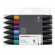 Brush Marker Set 6 Rich Tones