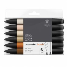 Brush Marker Set 6 Skin Tones