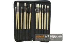 Brush Set in Black Holder