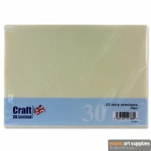 C5 Ivory Card & Envelopes 25s