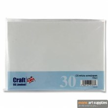 C5 White Card & Envelopes 25s