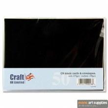 C6 Black Card & Envelopes 50s