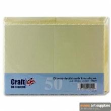 C6 Deckle Ivory Card&Envel 50s