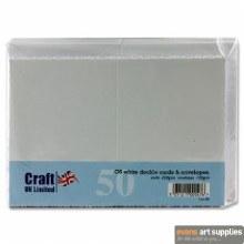C6 Deckle White Card&Envel 50s