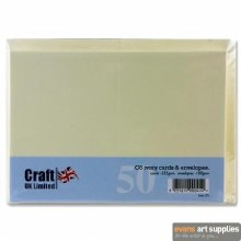 C6 Ivory Card & Envelopes 50s