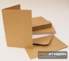 C6 Kraft Card & Envelopes 50s