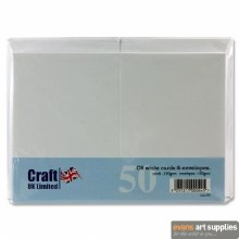C6 White Card & Envelopes 50s