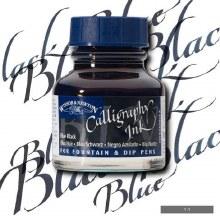 Winsor & Newton Calligraphy Ink Blue Black 30ml