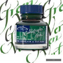 Winsor & Newton Calligraphy Ink Green 30ml