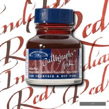 Winsor & Newton Calligraphy Ink Indian Red 30ml