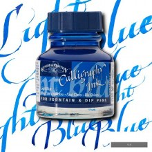 Winsor & Newton Calligraphy Ink Light Blue 30ml