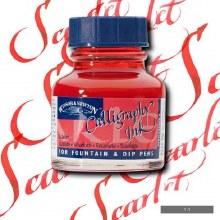 Winsor & Newton Calligraphy Ink Scarlet 30ml