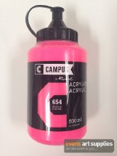 Campus 500ml Fluorescent Pink 654