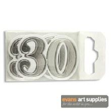 Card Decorations No.30 Silver*