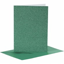 Card & Envelope Green Glitter