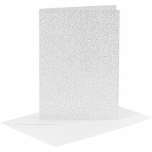 Card & Envelope Silver Glitter