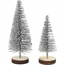 Christmas Spruce Trees Silver