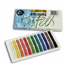 Colour pastels (12 per box)