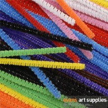 Pipe Cleaners Coloured 12""