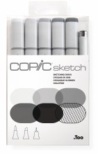 Copic Sketch 6pc Set Sketching Grays