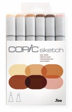 Copic Sketch 6pc Set Skin Tones