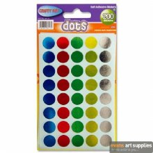 CRAFTY BITZ 200 DOT STICKERS