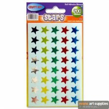 CRAFTY BITZ 200 STAR STICKERS