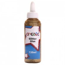 Create Glitter Glue Gold